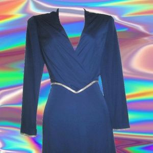 1970s vintage rhinestone maxi dress small disco